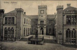 Ak Kołobrzeg Kolberg Pommern, Rathaus, Ratusz