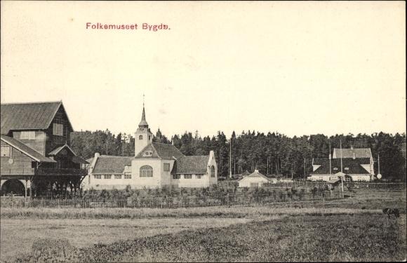 Ak Oslo Norwegen, Folkemuseet Bygdo, Norsk Folkemuseum