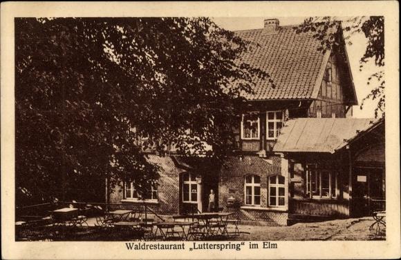 Ak Königslutter an der Elm, Waldrestaurant Lutterspring im Elm