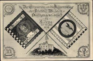 Wappen Ak Altena im Märkischen Kreis, Fahnenweihe, Friedrich Wilhelm Schützengesellschaft, 26.7.1912