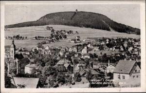 Ak Vejprty Weipert Region Aussig, Panorama vom Ort mit Bärenstein