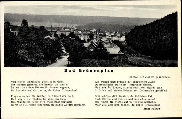 Lied Ak Bad Grünenplan Delligsen in Niedersachsen, Lied von Ernst Krenge, Ort mit Umgebung