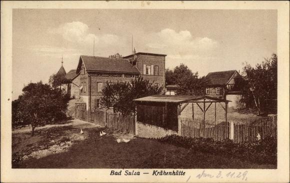 Ak Bad Sulza im Weimarer Land Thüringen, Blick zur Krähenhütte