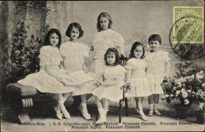 Ak Prinzessin Hilda, Prinzessin Marie Adelheid, Prinzessin Charlotte, Sophie, Elisabeth, Antonia