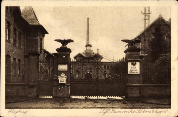 Ak Siegburg im Rhein Sieg Kreis, Kgl. Feuerwerks Laboratorium