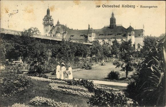 Ak Kołobrzeg Kolberg Pommern, Rosengarten, Grünanlagen