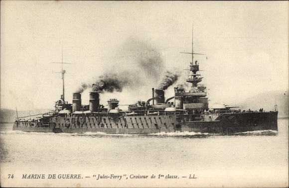 Ak Französisches Kriegsschiff, Le Léon Gabetta, Cuirassé, Marine Militaire Francaise