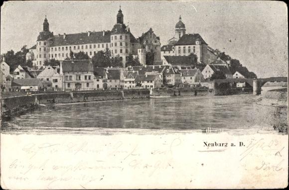 Ak Neuburg an der Donau Oberbayern, Teilansicht der Stadt