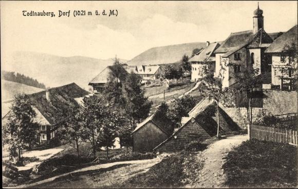 Ak Todtnau im Südschwarzwald Kreis Lörrach, Teilansicht von Ortschaft
