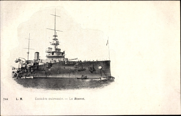 Ak Französisches Kriegsschiff, Le Bouvet, Escadre cuirassé, Marine Militaire Francaise