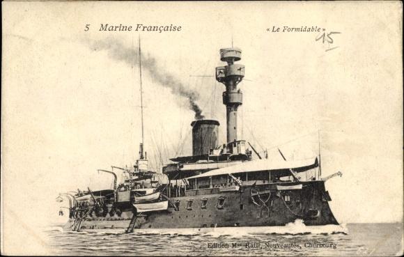 Ak Französisches Kriegsschiff, Le Formidable, Cuirassé, Marine Militaire Francaise