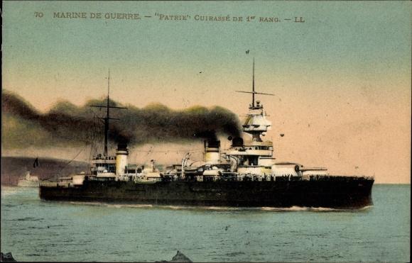 Ak Französisches Kriegsschiff, Patrie, Cuirassé de 1er Rang, Marine Militaire Francaise