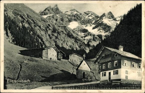 Ak Einödsbach Oberstdorf im Oberallgäu, Blick auf den Weiler, Kapelle, Häuser