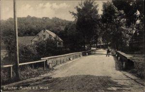 Ak Burscheid im Bergischen Land, Brucher Mühle a. d. Wied, Straßenansicht