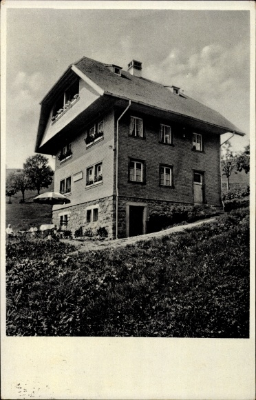 Ak Todtnauberg Todtnau im Südschwarzwald Kreis Lörrach, Wohnhaus am Hang