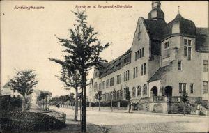 Ak Recklinghausen im Ruhrgebiet, Partie mit der Bergwerks Direktion
