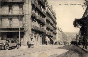 Ak Algier Alger Algerien, Rue Sadi Carnot, Blick in die Straße, Wohnhäuser