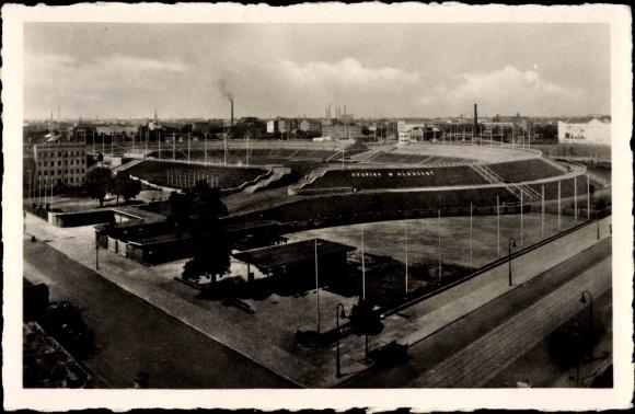 Ak Berlin Mitte, Blick auf Stadion Walter Ulbricht