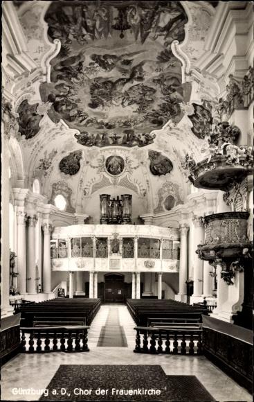 Ak Günzburg in Schwaben, Chor der Frauenkirche