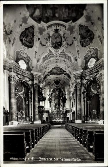 Ak Günzburg in Schwaben, Inneres der Frauenkirche