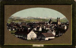Passepartout Präge Ak Kempten im Allgäu Schwaben, Blick auf die Stadt
