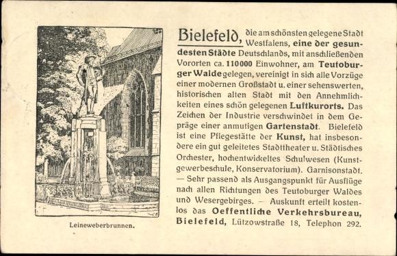 Künstler Bielefeld künstler ak bielefeld in nordrhein westfalen leineweberbrunnen nr