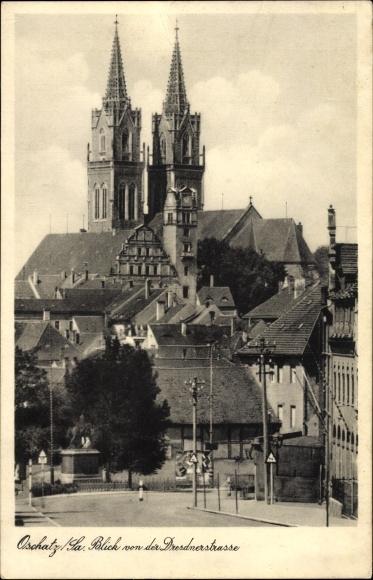 Ak Oschatz in Nordsachsen, Blick von der Dresdner Straße