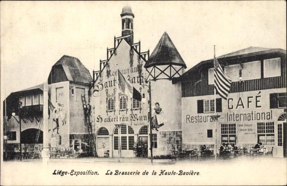 Ak Liège Lüttich Wallonien, Expo 1930, La Brasserie de la Haute Bavière