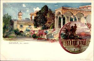 Künstler Litho Wielandt, Manuel, Genua Ligurien, Doria, Palast