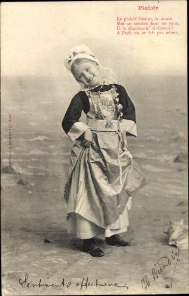 Ak Plaisir, Le plaisir l'attire, la danse, tanzendes Mädchen, Edition Bergeret