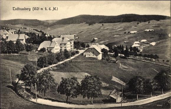 Ak Todtnauberg Todtnau im Südschwarzwald Kreis Lörrach, Panoramaansicht des Ortes