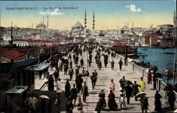 Ak Konstantinopel Istanbul Türkei, Le Pont de Stamboul, Brücke