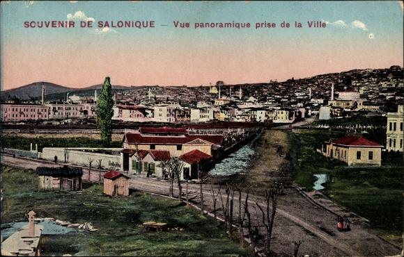 Ak Thessaloniki Griechenland, Vue Panoramique prise de la Ville