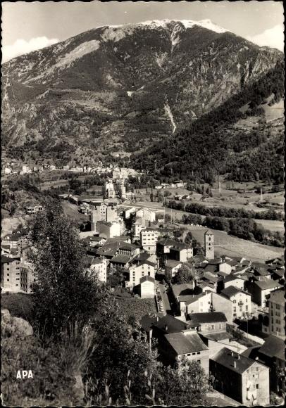 Ak Escaldes-Engordany Andorra, Gesamtansicht des Ortes