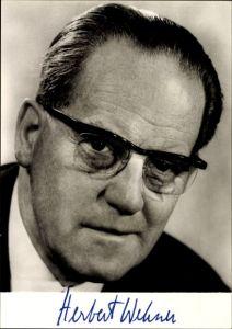 Ak Stellvertretender Vorsitzender der SPD, Herbert Wehner, Portrait