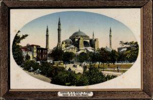 Präge Passepartout Ak Konstantinopel Istanbul Türkei, Extérieur de la Mosquée St. Sophie