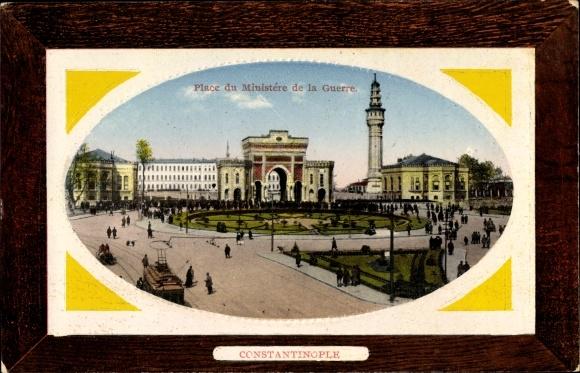 Präge Passepartout Ak Konstantinopel Istanbul Türkei, Place du Ministère de la Guerre