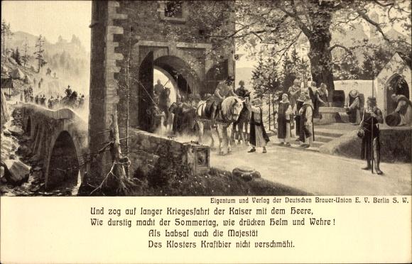 Künstler Ak Diemer, Zeno, Deutsche Brauer Union eV, Int. Hygieneausstellung Dresden 1911, Kaiser