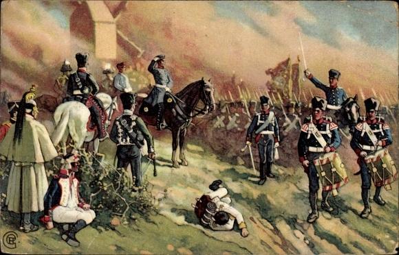 Künstler Ak Aus dem Befreiungskriege 1813/15, General Bülow bei Dennewitz, Junicosan