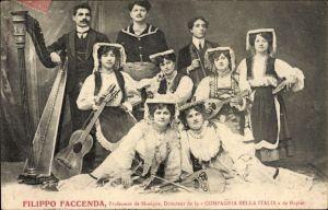 Ak Filippo Faccenda, Professeur de Musique, Directeur de la Compagnia Bella Italia