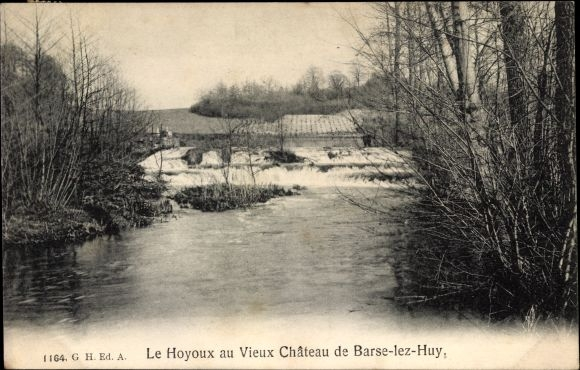 Ak Barse Modave Wallonien Lüttich, Flusspartie mit Landschaftsblick
