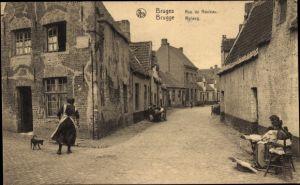 Ak Bruges Brügge Flandern Westflandern, Blick in den Rolweg, Rue de Rouleau