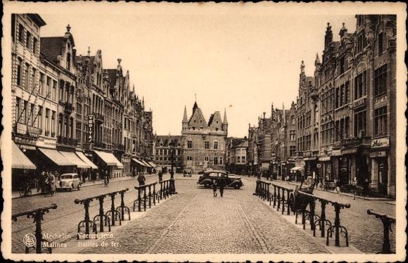 Ak Mechelen Malines Flandern Antwerpen, Bailees de fer, Yzeren leen, Straßenpartie