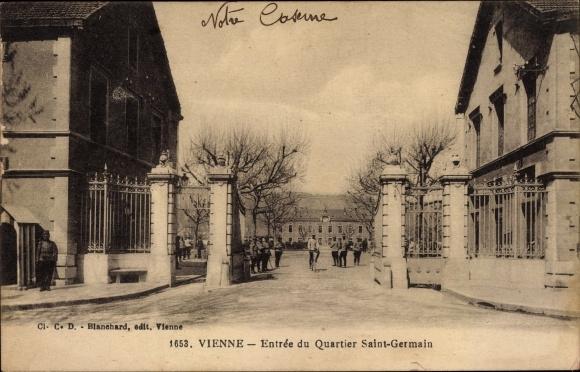 Ak Vienne, Entrée du Quartier Saint Germain, Kaserne
