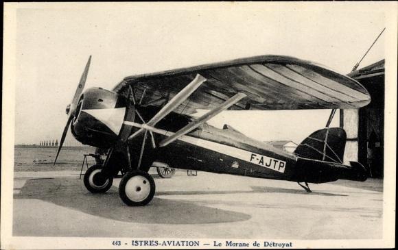 Ak Istres Aviation, Le Morane de Détroyat, F-AJTP, Monoplan