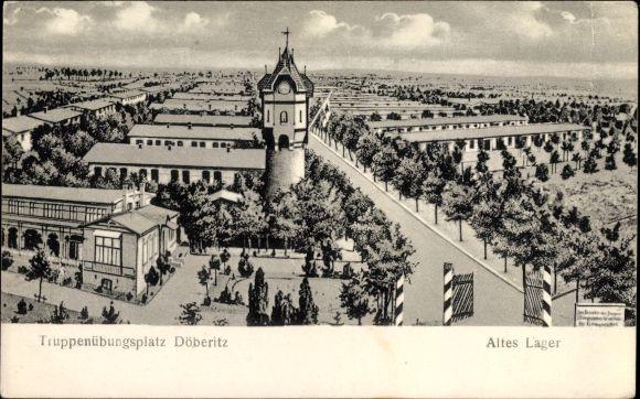 Ak Dallgow Döberitz im Havelland, Truppenübungsplatz, Altes Lager