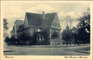 Ak Diemitz Halle an der Saale, Kreuzung Berliner Straße und Breitestraße, Eckgebäude