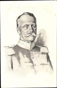 Künstler Ak Krotowski, Großherzog Friedrich II v. Baden, Portrait, Wohlfahrtskarte