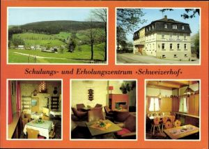 Ak Neuclausnitz Rechenberg Bienenmühle Erzgebirge, Schulungs- und Erholungszentrum Schweizerhof