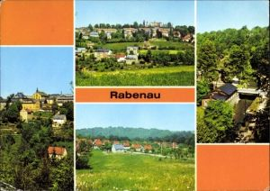 Ak Rabenau im Erzgebirge, Blick auf den Ort mit Umgebung, Mühle